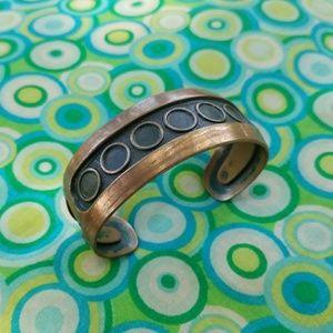 Jewelry - Vintage Western COPPER Textured Cuff Bracelet